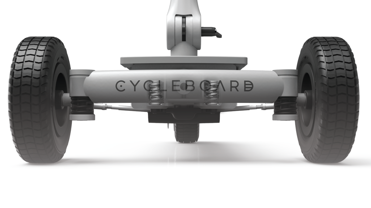 CycleBoard Balanced Scooter With Suspension And Unique Steering