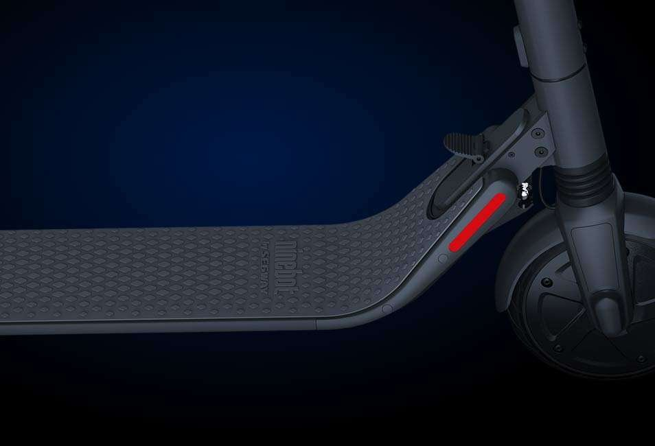 Segway ninebot ES2 electric scooter deck size front tire