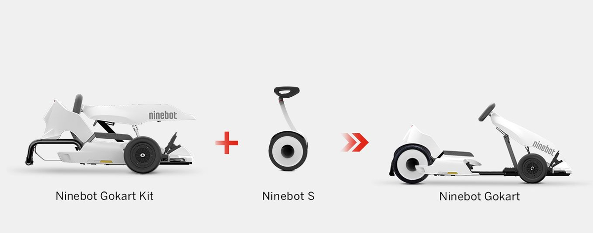 Segway Ninebot Gokart kit works with the Ninebot S