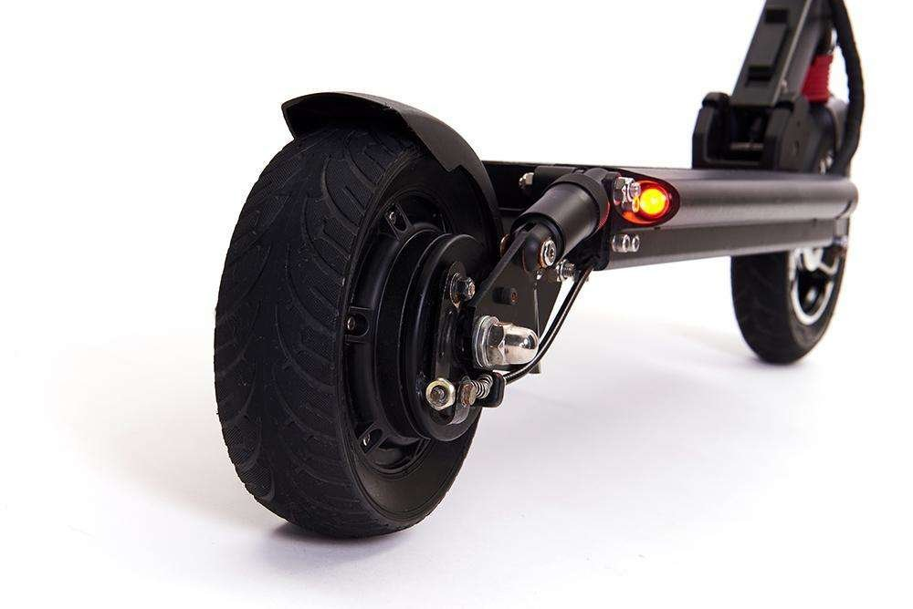 zero 8 electric scooter back view suspension