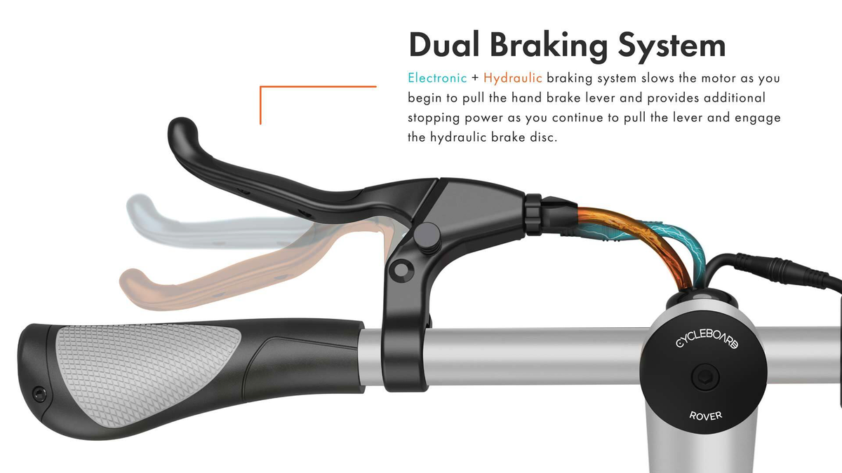 CycleBoard Balanced Scooter High Performance Hydraulic Brakes
