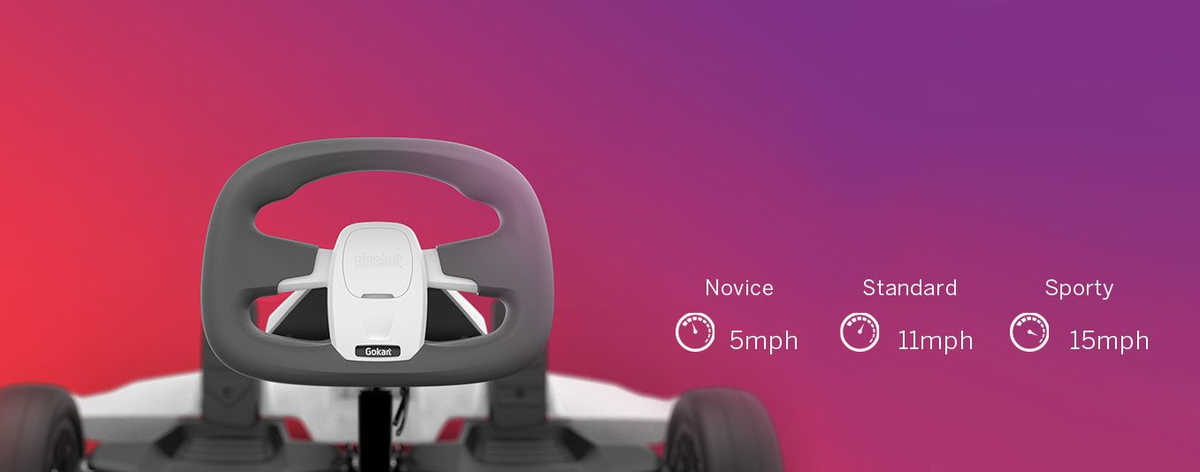Electric Segway Ninebot Gokart kit works with the Ninebot S