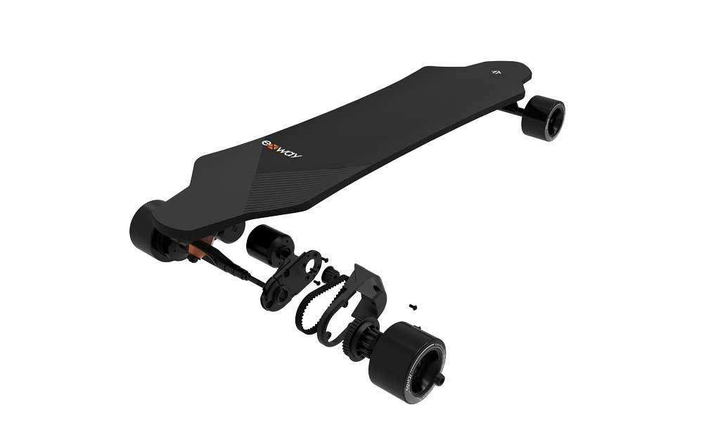 exway adult electric skateboard esk8 x1 pro riot belt motors
