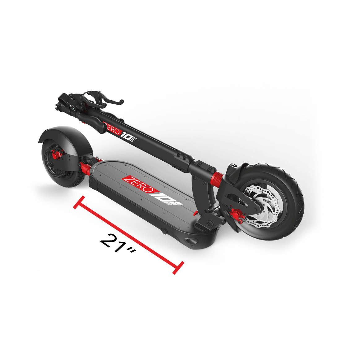 zero 10 electric scooter deck length