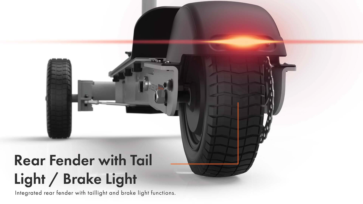 CycleBoard Balanced Scooter With Suspension Bright Headlights and Tail lights