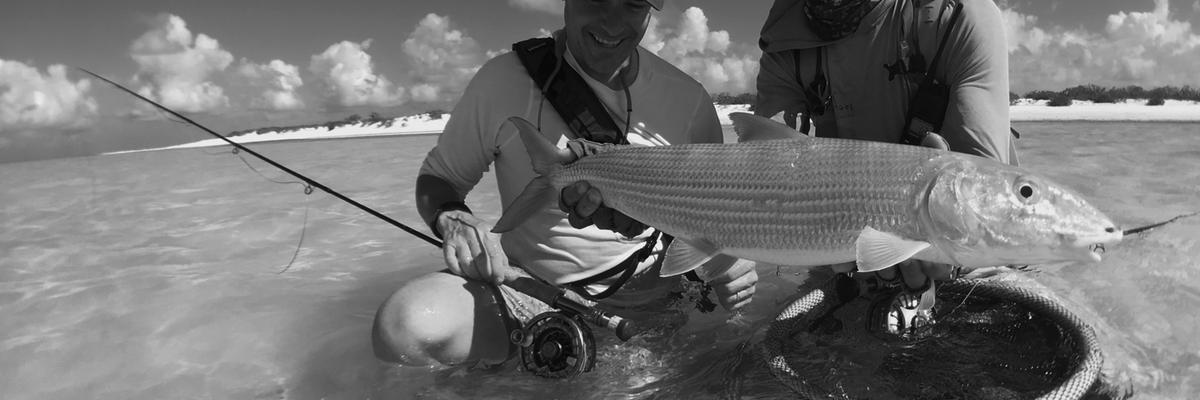 Big bonefish, Bonefish on fly, fly fishing, flats fishing, wade fishing