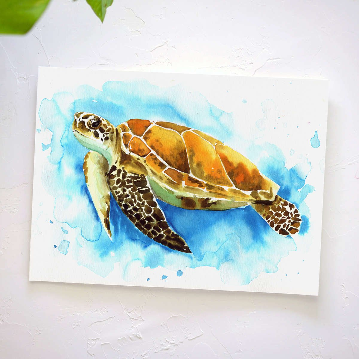 Sea Turtle Watercolor Tutorial