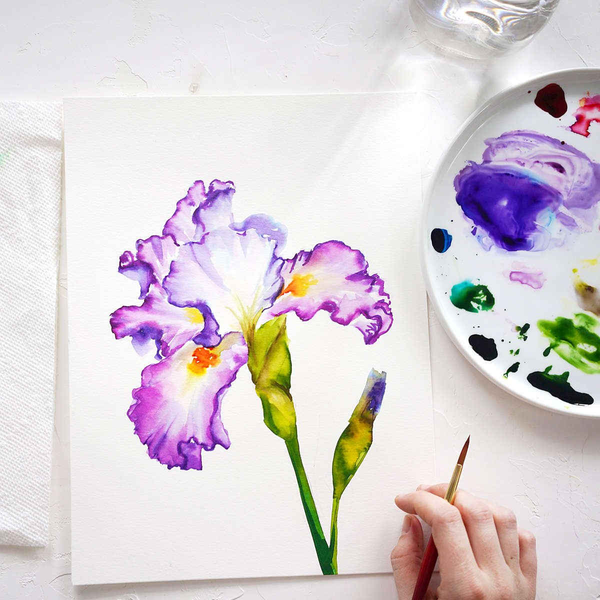 Iris Watercolor Tutorial