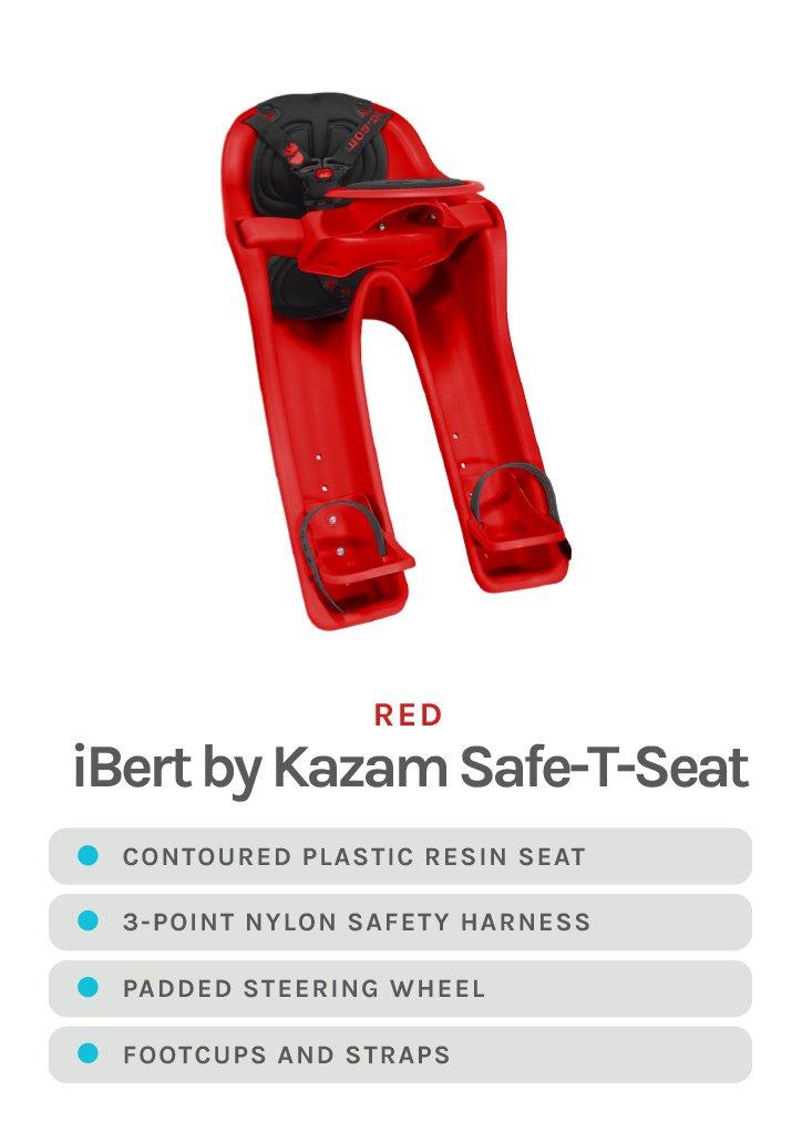 Red iBert by Kazam Safe-T-Seat