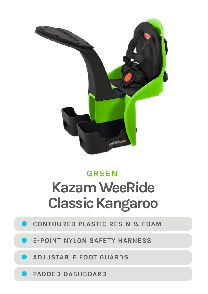 Green Kazam WeeRide Classic Kangaroo with detailed specs