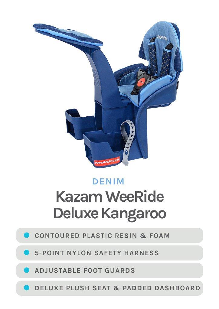 Denim Kazam WeeRide Deluxe Kangaroo with detailed specs