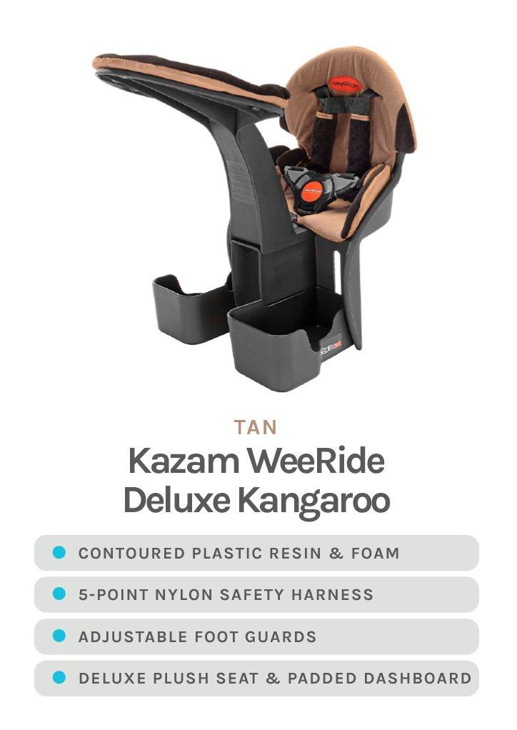 Tan Kazam WeeRide Deluxe Kangaroo with detailed specs