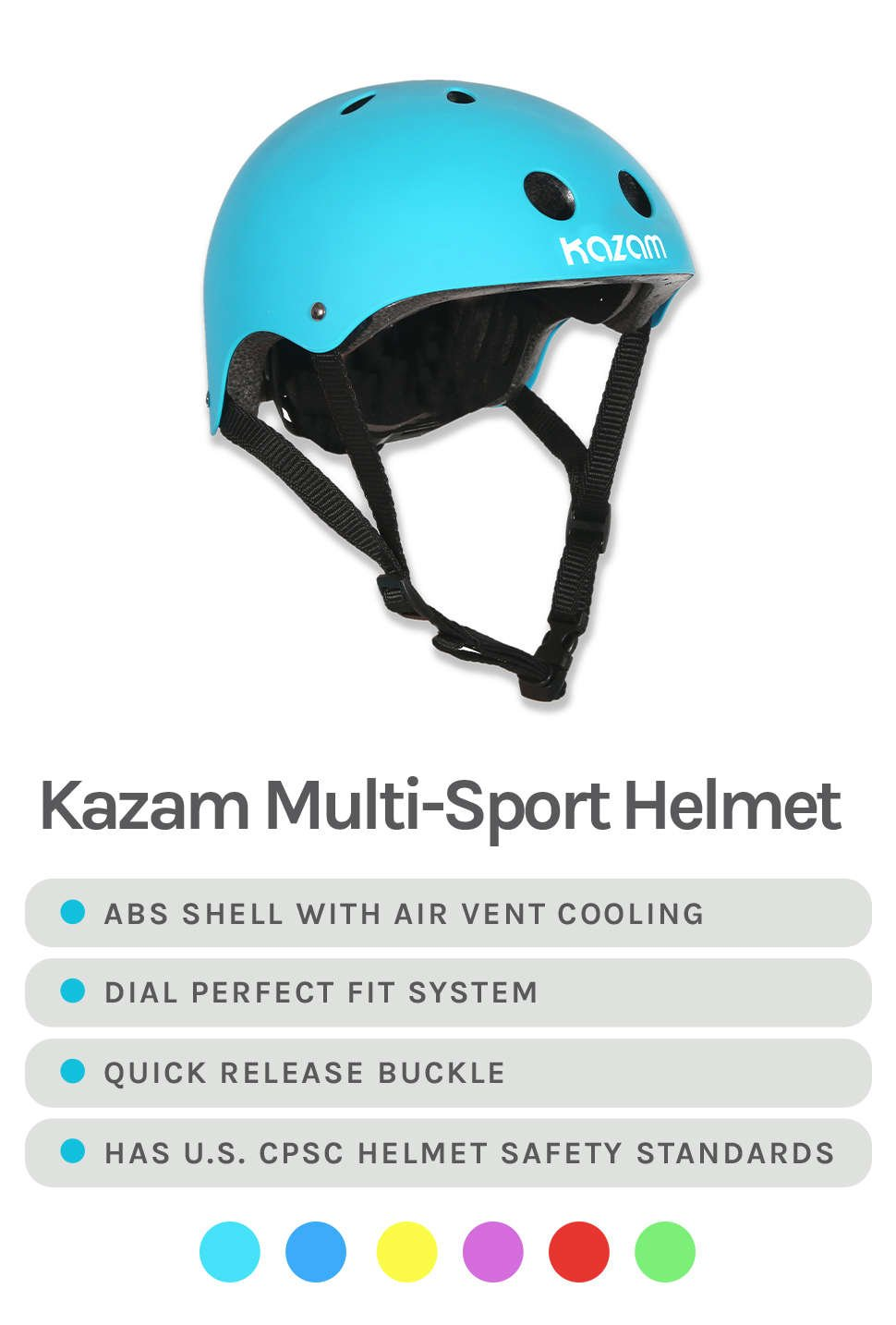 Kazam Multi-Sport Helmet - Features & Colors