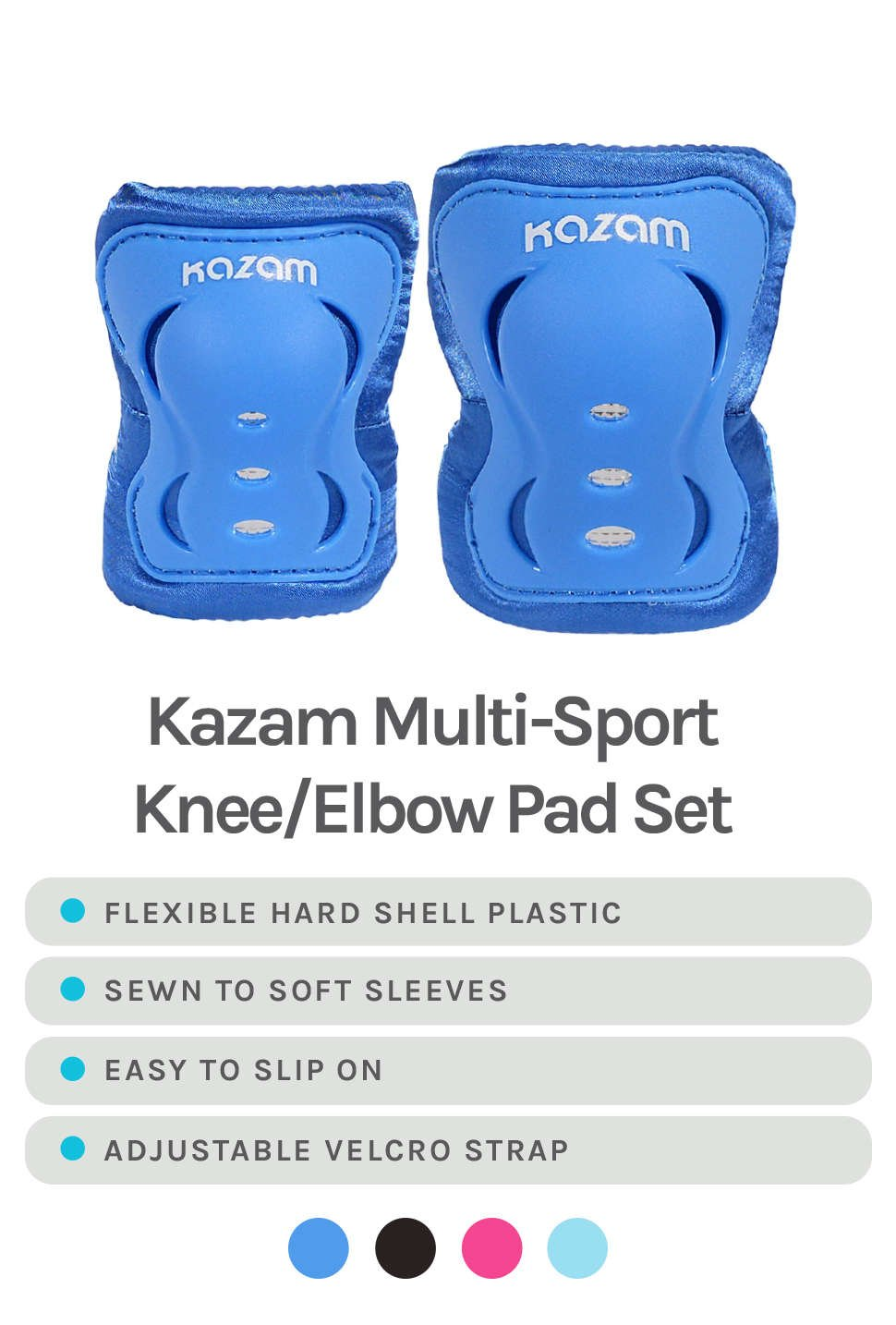 Kazam Multi-Sport Knee/Elbow Pad Set - Features & Colors