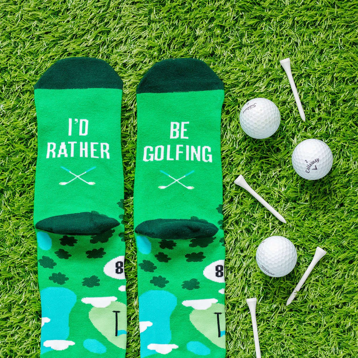 Lavley I'd Rather Be Golfing Socks