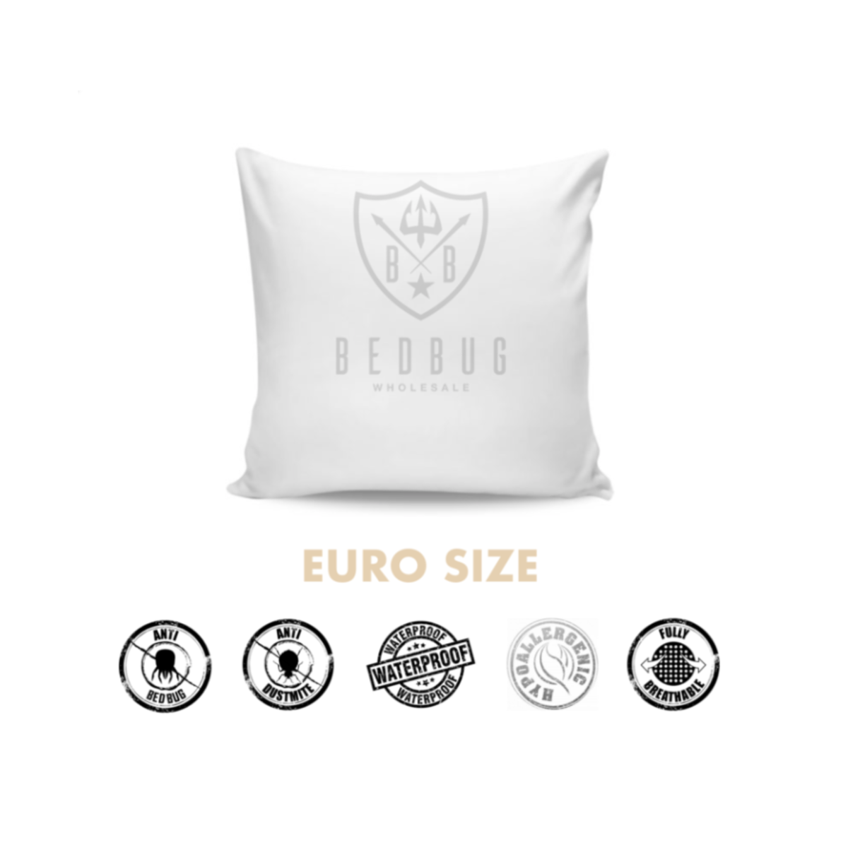 Euro Size Allergy, Dust Mite, Bed Bug Pillow Cover