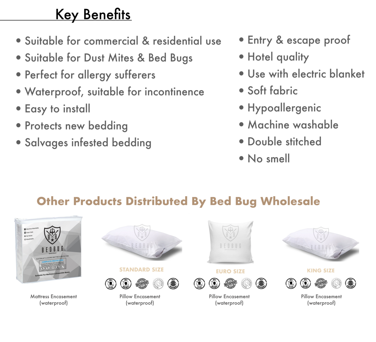 Key Bennefits Bed Bug Wholesale Allergy Cover