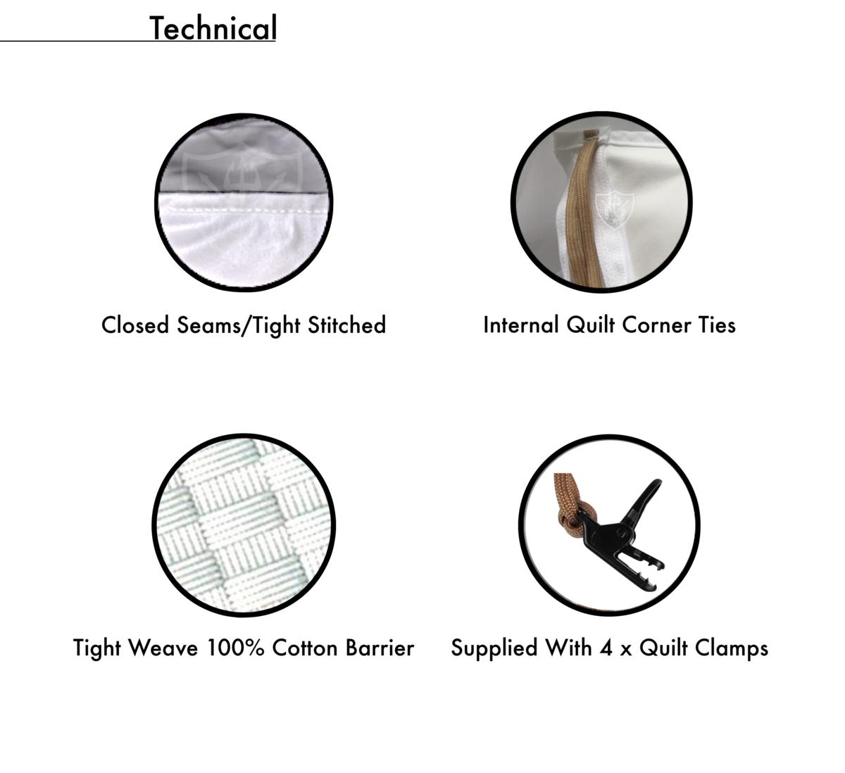 100% Cotton Allergy Quilt Encasement Technical