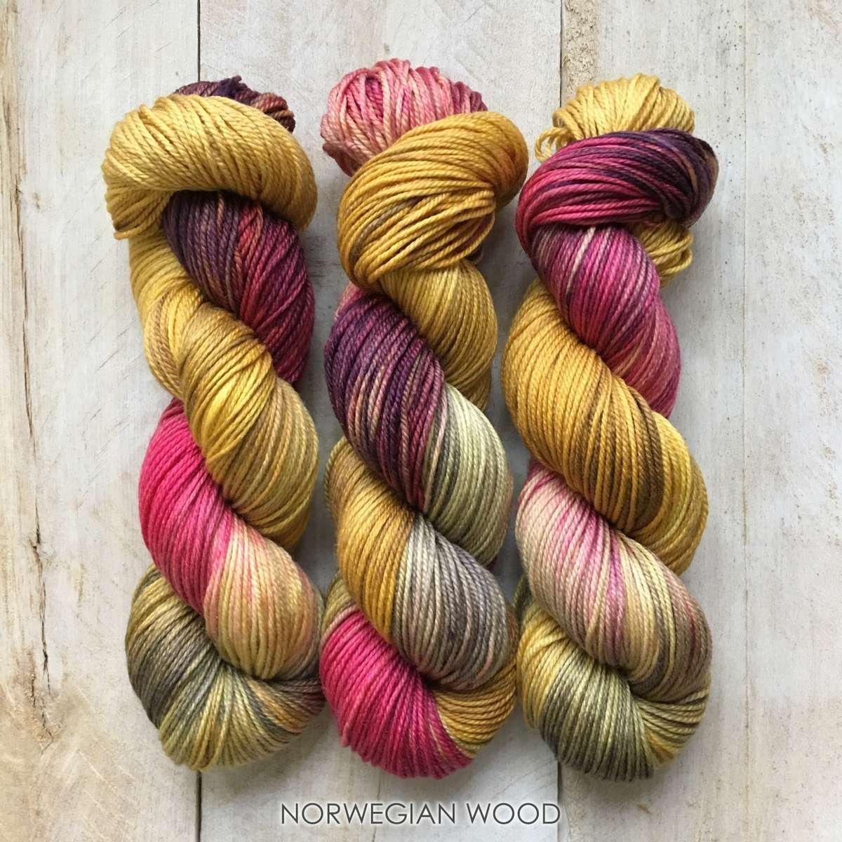 Hand-dyed yarn Louise Robert Norwegian wood