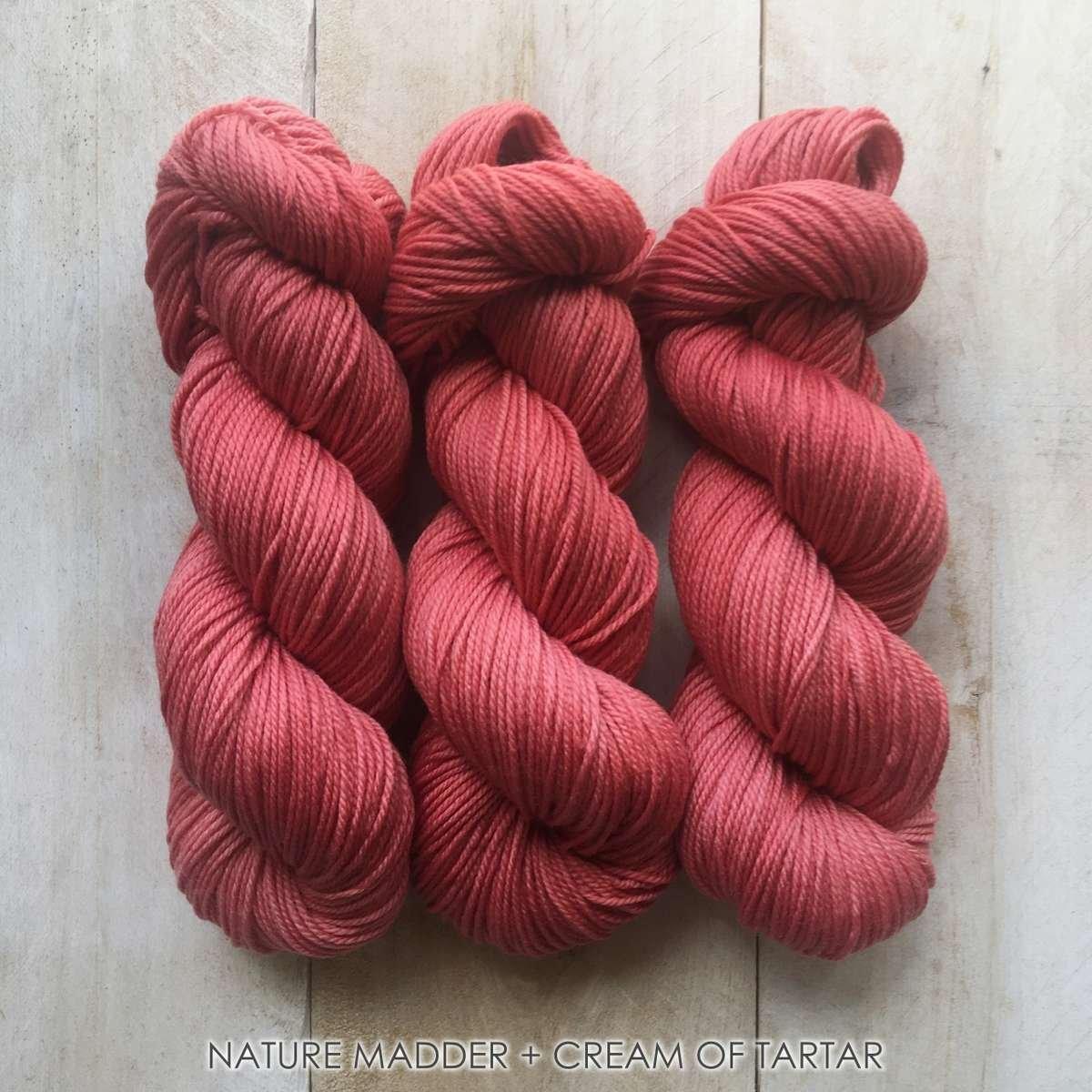 Hand-dyed yarn Louise Robert NATURE Madder + cream of tartar