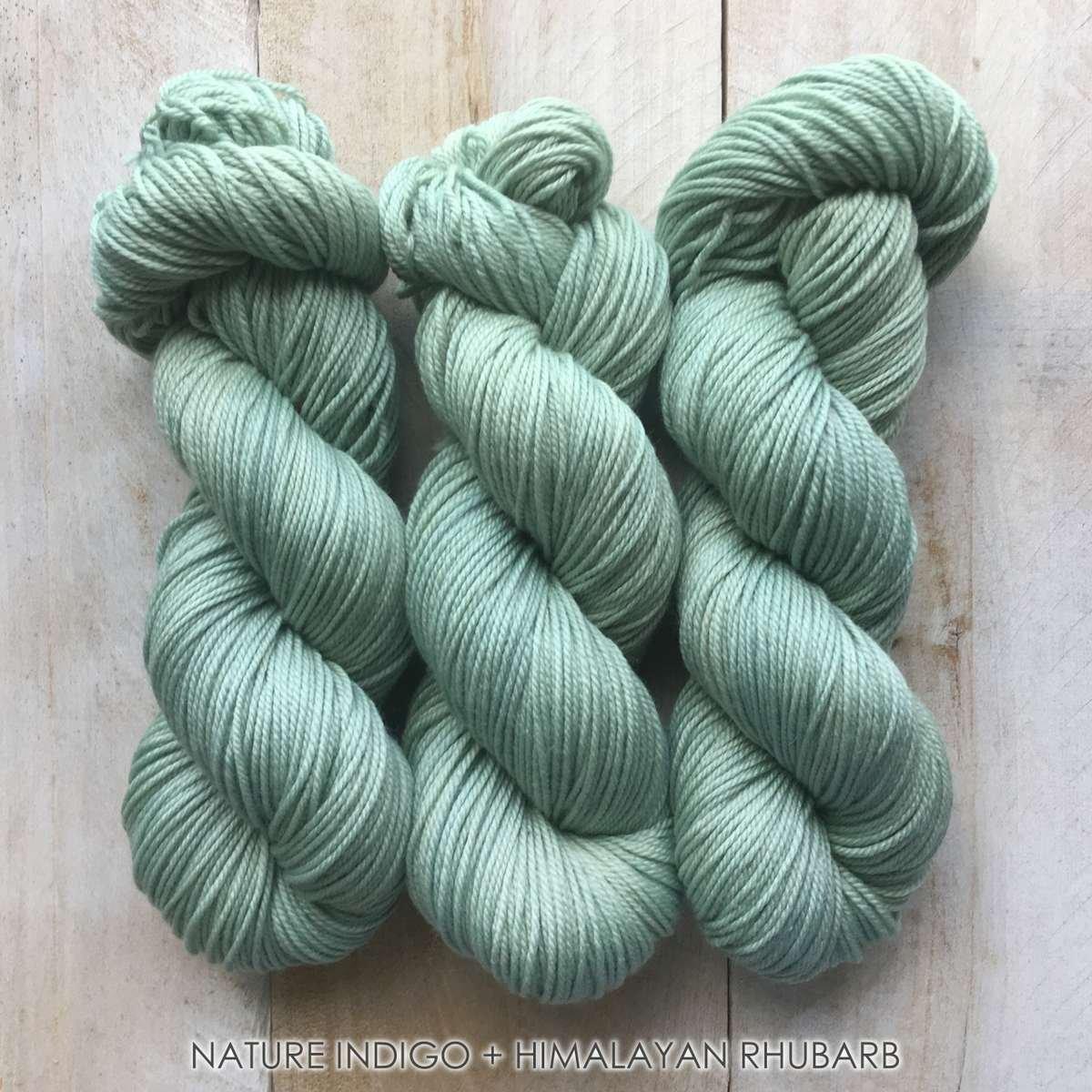 Hand-dyed yarn Louise Robert NATURE Indigo + Himalayan rhubarb