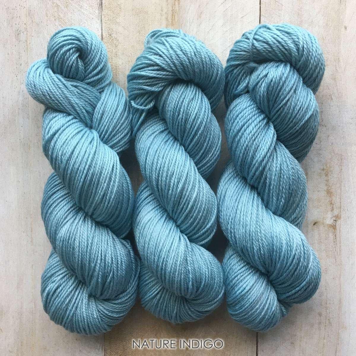 Hand-dyed yarn Louise Robert NATURE Indigo
