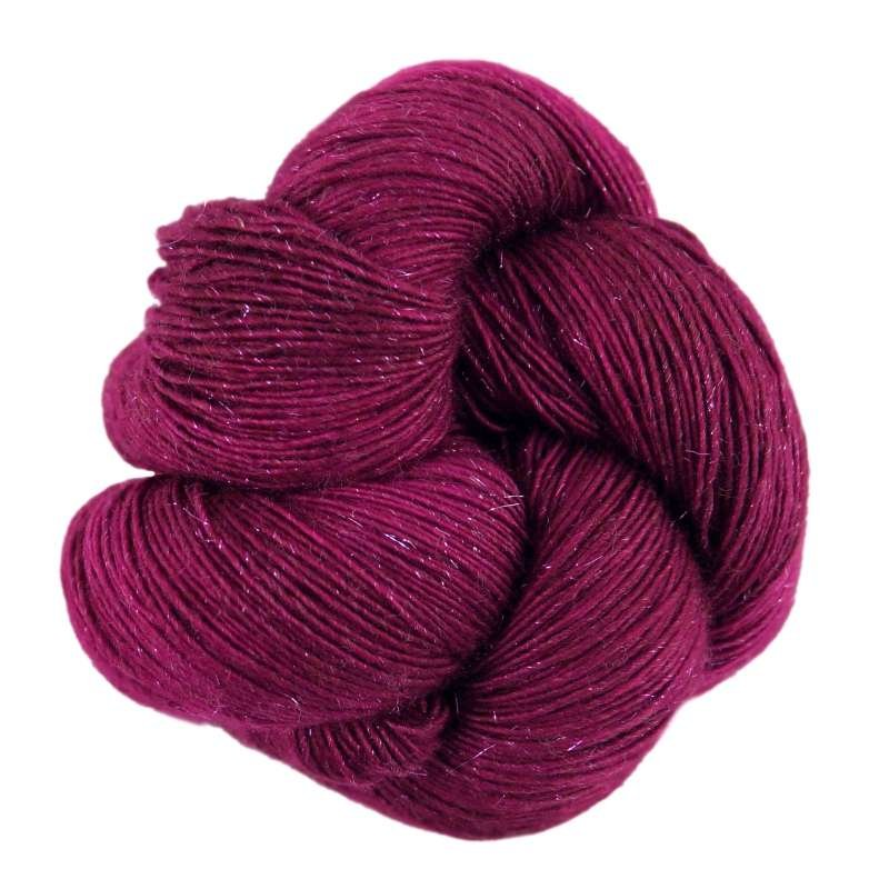sparkling single ply yarn