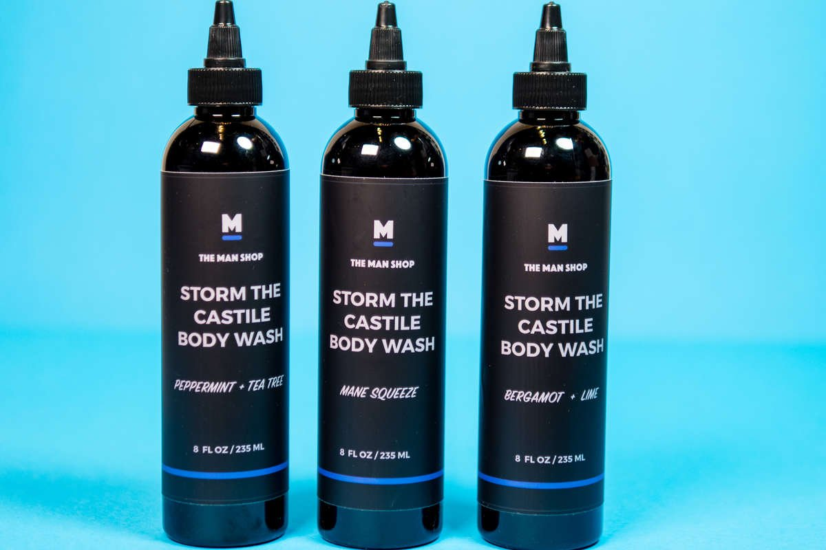 The Man Shop Storm the Castile Body Wash