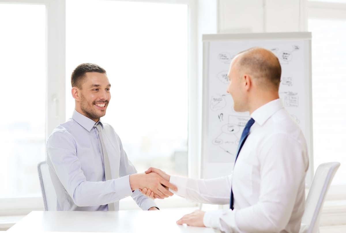 A positive outcome job interview