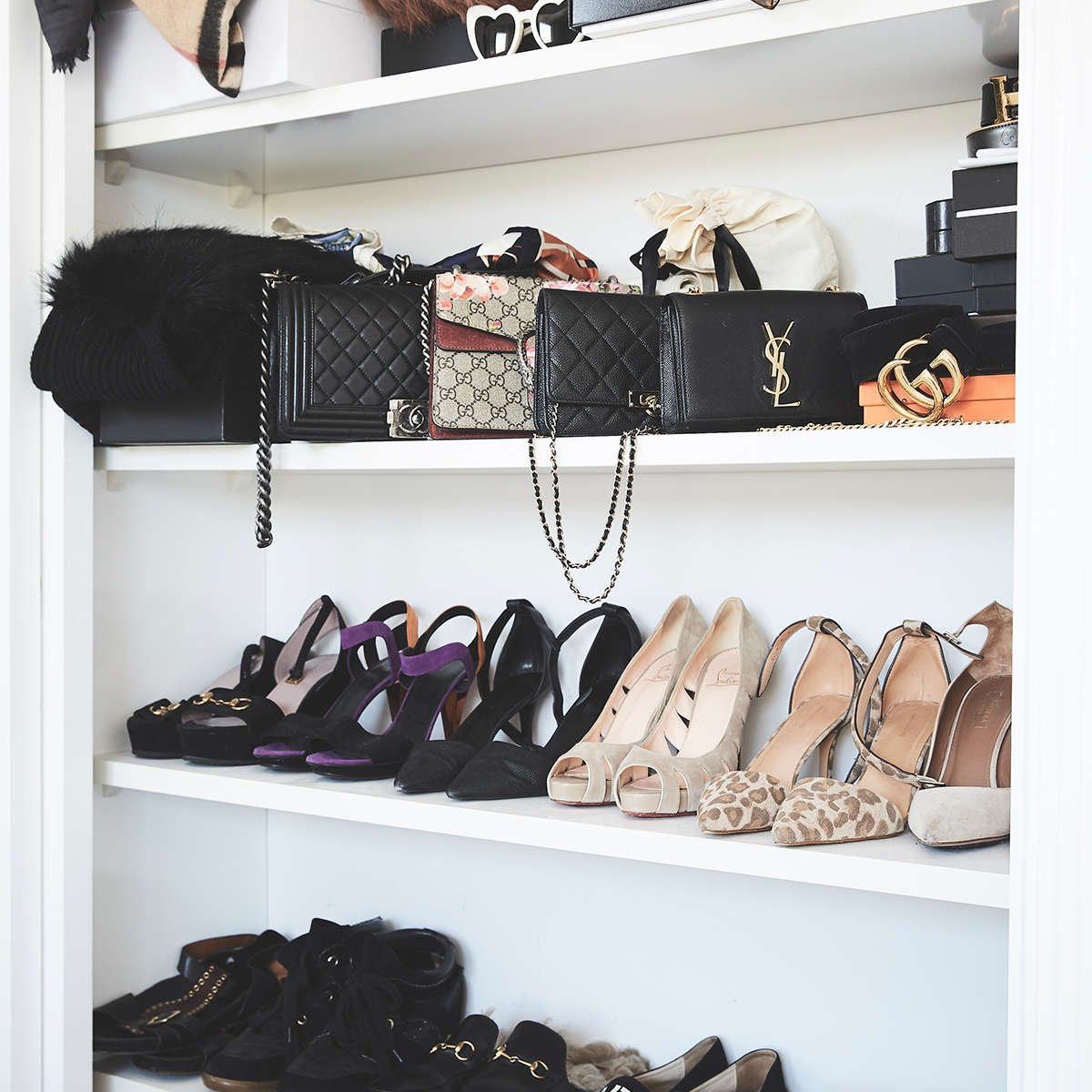 shoes in wardrobe