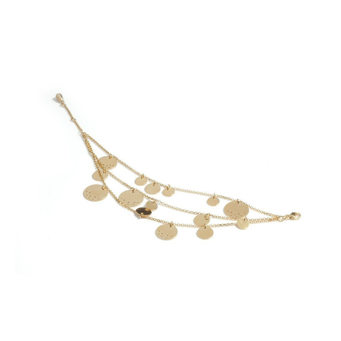 Gold Asanoha III Fine Bracelet