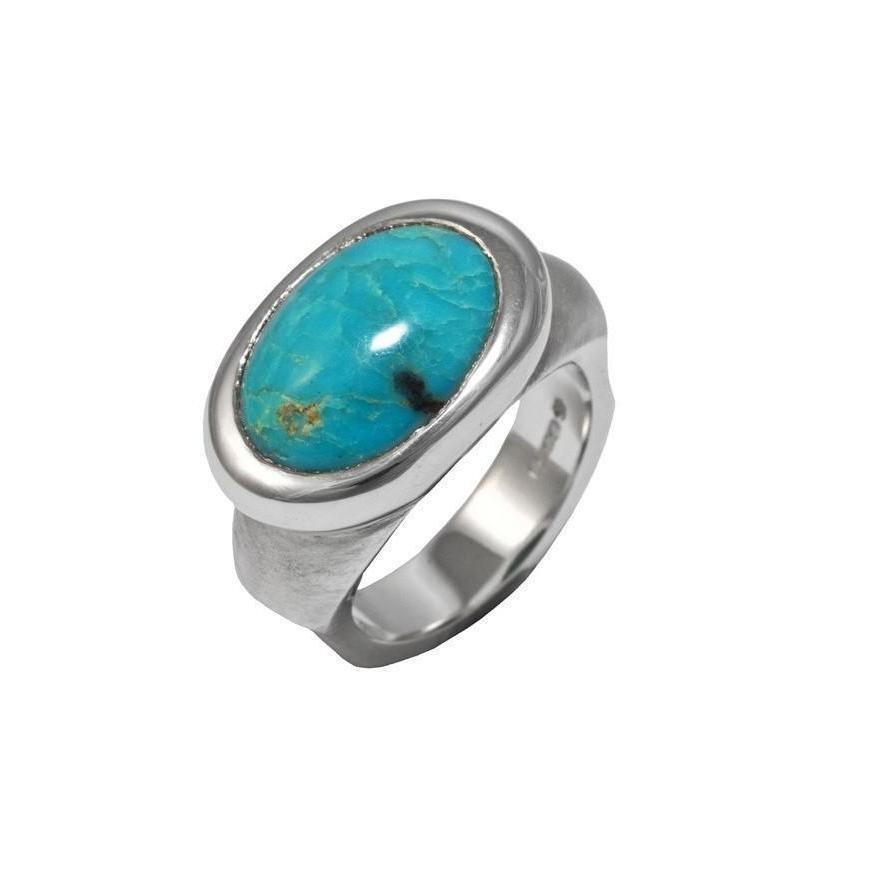 Silver Eyecandy Turquoise Ring