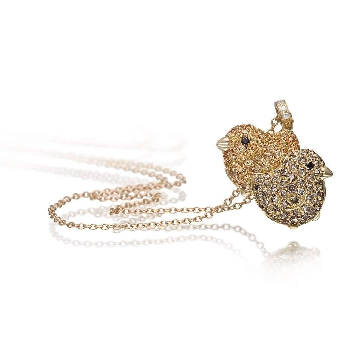 Pet Jewels Collection Brown Diamond Chicks Necklace