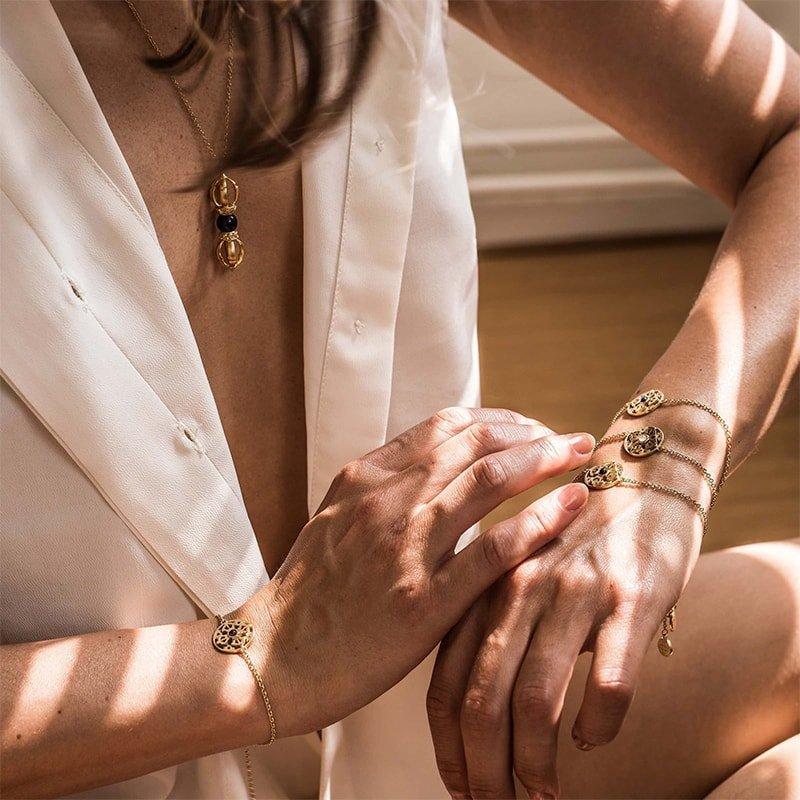 The Eternity of Wisdom Yellow Gold Bracelet, Silatha