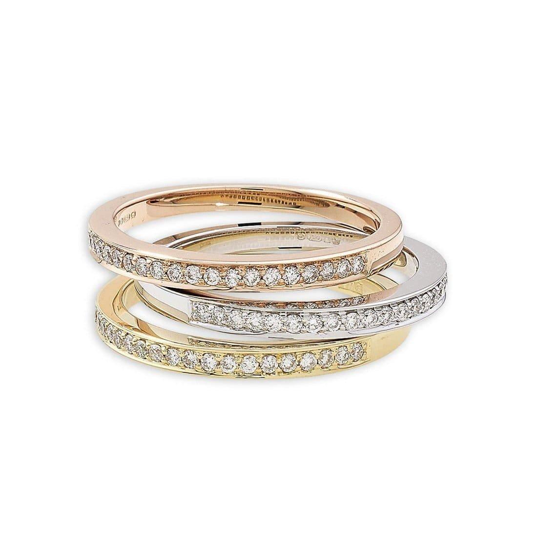 Exclusive Diamond Grain Set Stack Rings