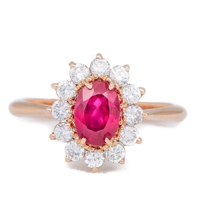 Rose Gold Ruby Ring - Katherine LeGrand Custom Goldsmith
