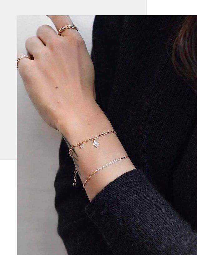 14kt Rose Gold & Diamond Duke Bracelet