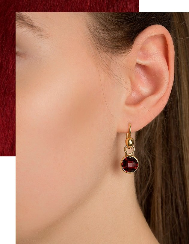 Lucy Garnet Earrings