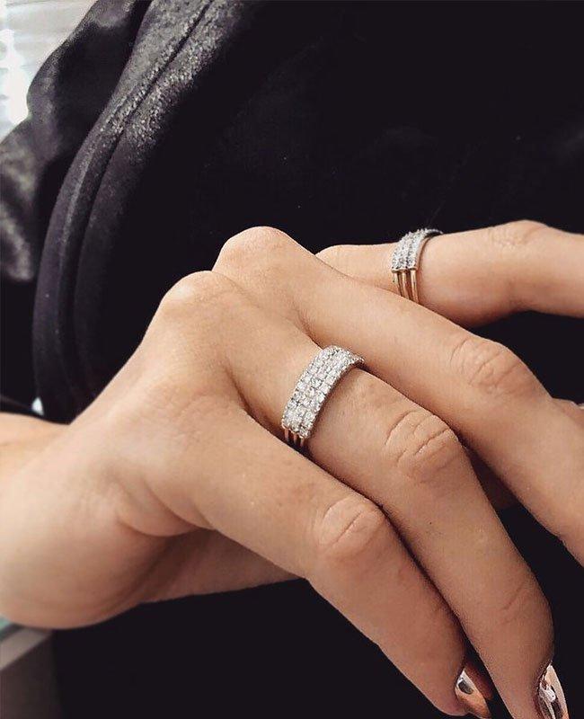 'Feel The Love' Secret Diamond Braille 8 letter Ring