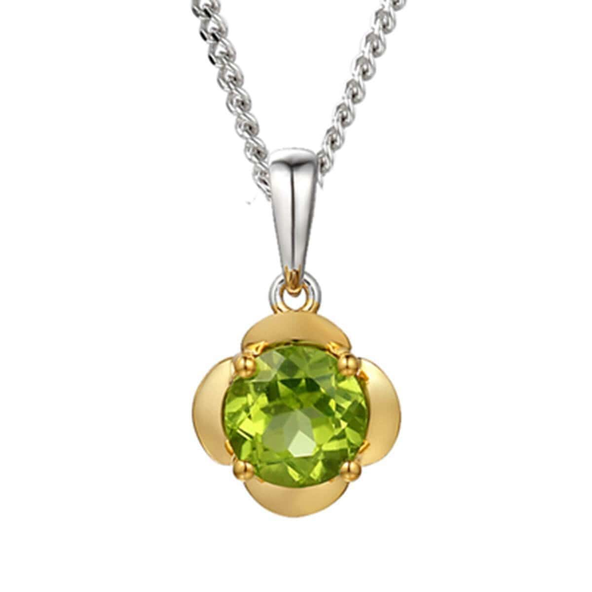 Yellow Gold Plated Lime Gelato Necklace