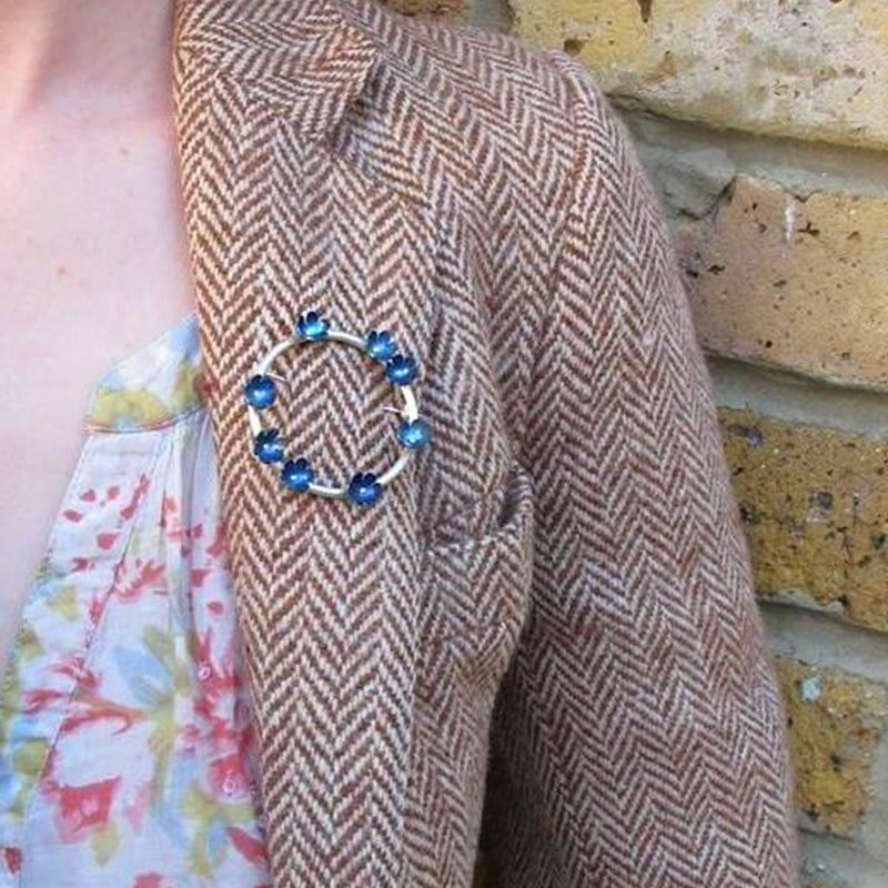 Forget-Me-Nots Circlet Titanium Brooch, Sian Bostwick Jewellery