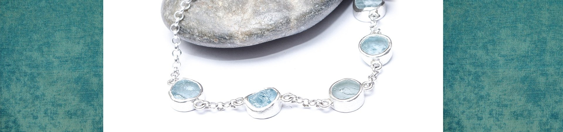 Aquamarine Five Gemstone Coastal Bracelet