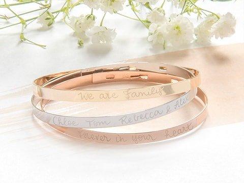 Personalised Laurel Chain Bracelet Gold