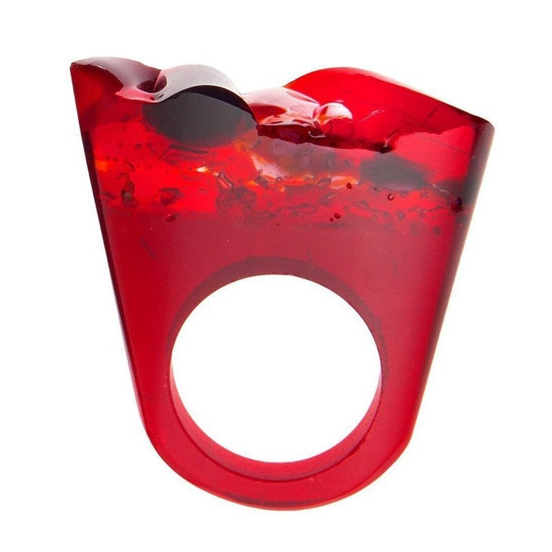 Murano Red Ring - Lust, Pasionae