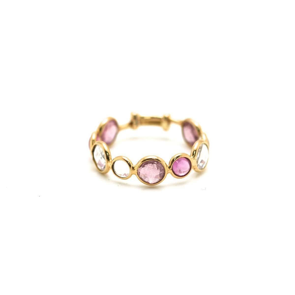 Multi-Gemstone Stackable Ring Band in 18kt Yellow Gold