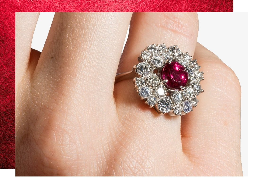 Art Deco Ruby Ring,  Katherine LeGrand Custom Goldsmith