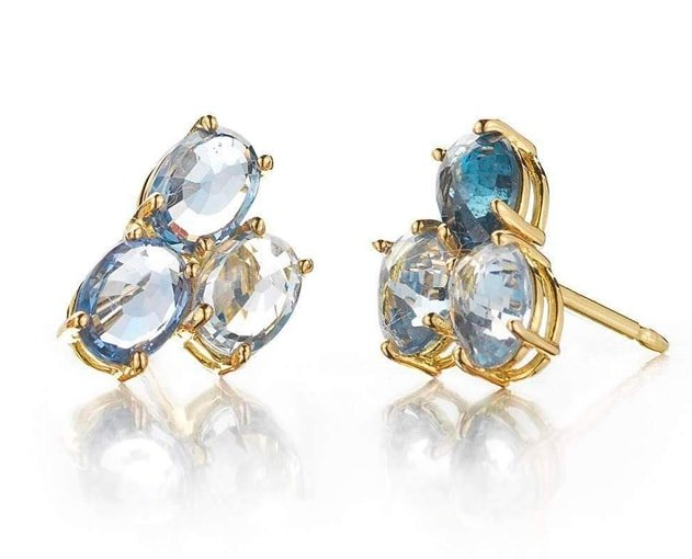 Blue Sapphire Ombre Stud Earrings, Paolo Costagli
