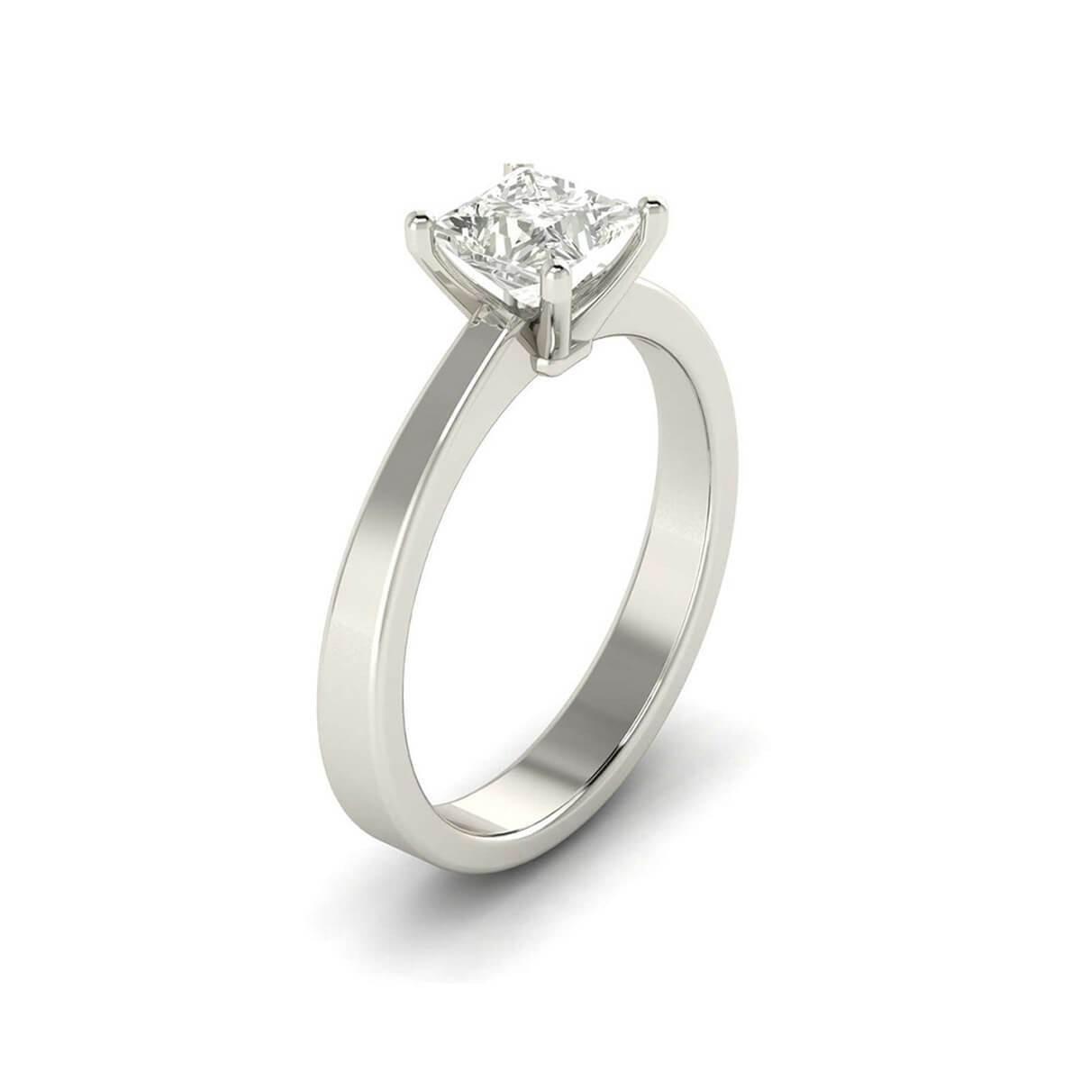 Comfort Fit Solitaire Princess Cut Diamond Ring - 5Ine Jewels