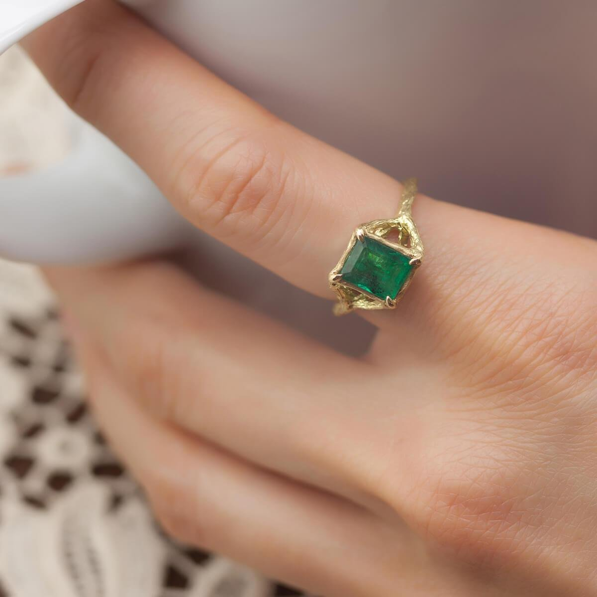 Gold & Emerald Enchanted Forest Ring