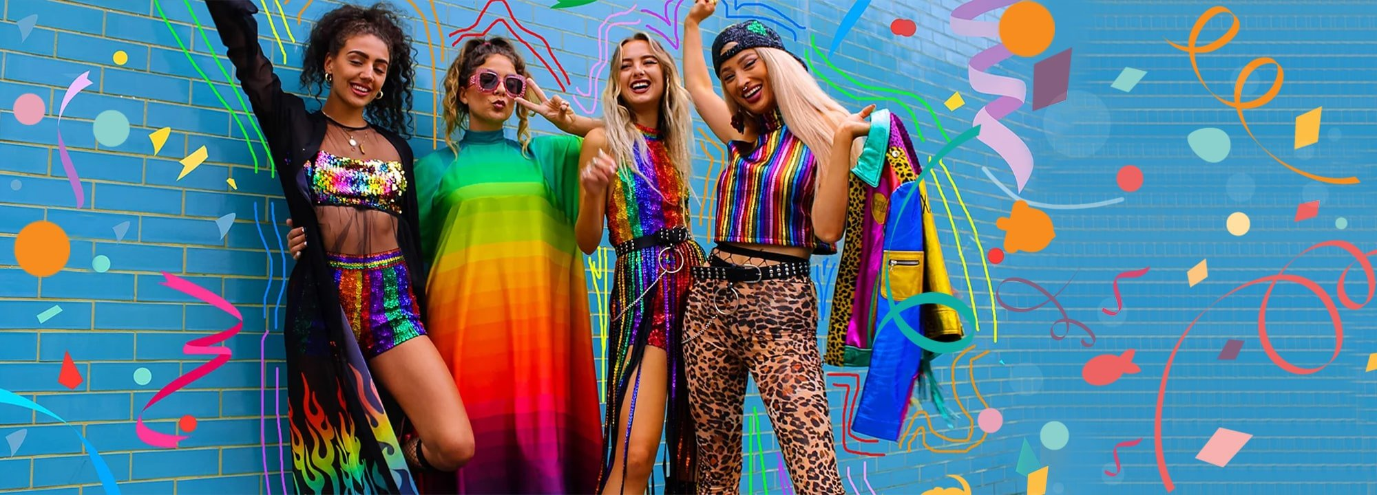 Shop Confetti Crowd X LGBT Collection